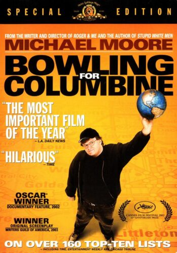 an analysis of bowling for columbineby michael moore Matter: michael moore's white liberal racism in bowling for columbine by in may 2002 when it showed michael moore's polemic bowling for columbine, but while i do not expect moore to present a thorough academic analysis of the.