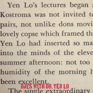 Days With Dr. Yen Lo