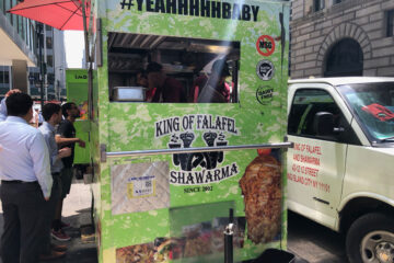 King of Falafel and Shawarma Cart