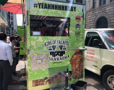 King of Falafel and Shawarma Cart