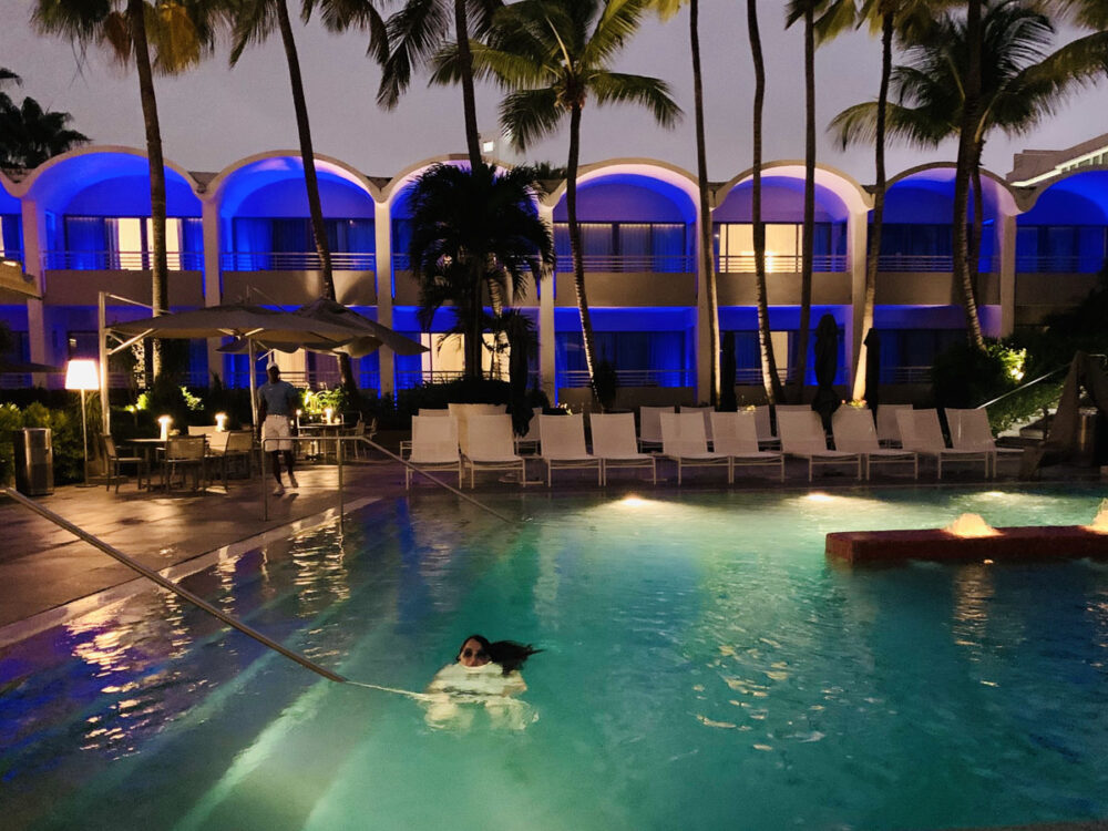 La Concha Pool at Night